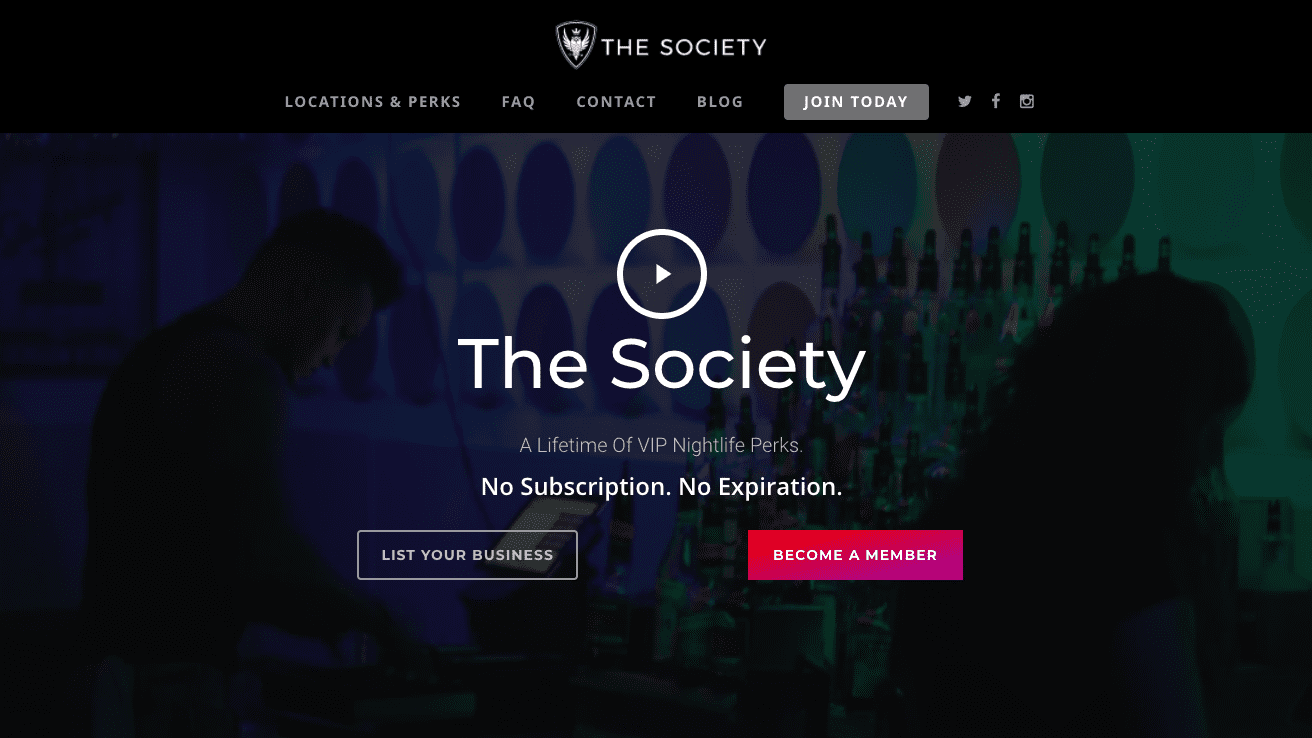 The Society - All the best local bars and nightclubs in Reno, Boise, Park City, Phoenix, Salt Lake City, and Mexico City