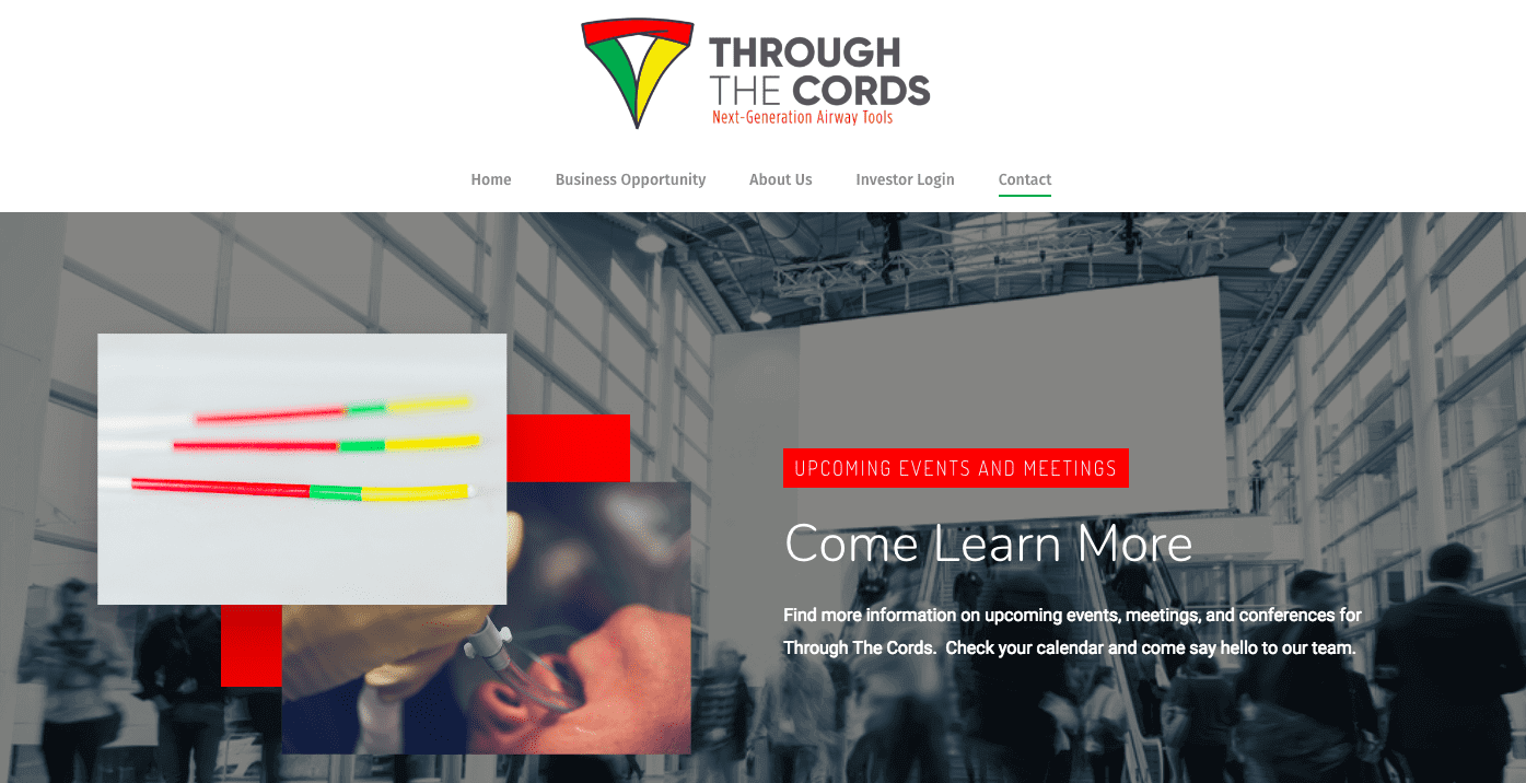 Through The Cords medical device company founded at the University of Utah Medical School