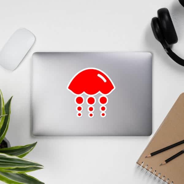 BRJ logo on laptop