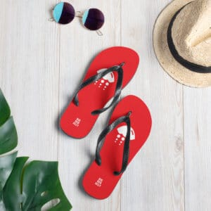 Big Red Jelly Flip Flops