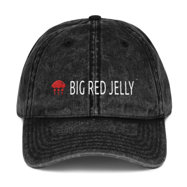 Big Red Jelly Jean Style Cap